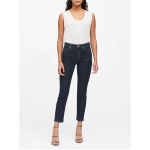 Banana Republic High Rise Straight Ankle Jeans